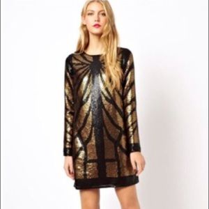 ASOS Animal Sequin Mini Dress